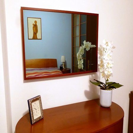 La tv diventa uno specchio con pilkington mirroview top - Specchio con tv ...