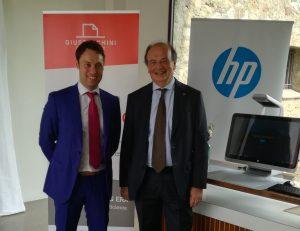 A dx Santino Canegrati, HP, al suo fianco, Davide Danesi, Giustacchini Printing