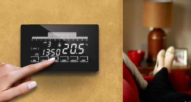 Smart home il cronotermostato wifi touchscreen di fantini for Cronotermostato wifi fantini
