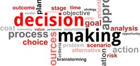word cloud - decision making