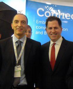 Michael Dell con Gianluca Celauro di Disc S.p.A