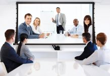 Business Team at a Video Conference_Polycom