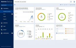 Acronis Backup 12.5 - dashboard