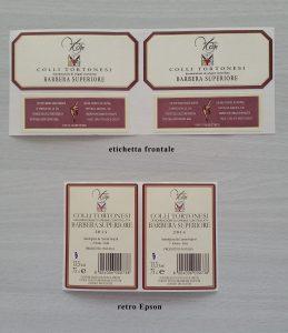 Le etichette CantineVolpi stampate con ColorWorks