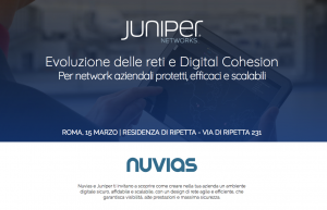 Nuvias amplia l'offerta con le soluzioni Mist Systems di Juniper