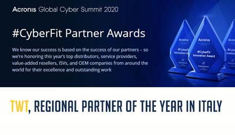 TWT_Acronis partner of the year 2020