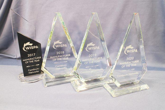 Cambium Networks 2020 WISPA award