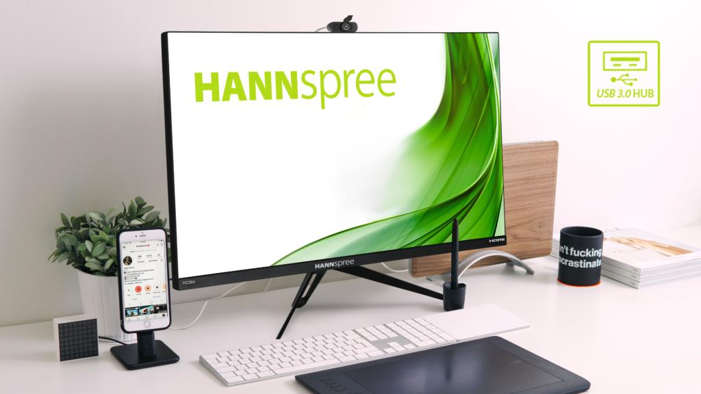 HANNspree display Ultra-HD HC284UFB e HC284UPB